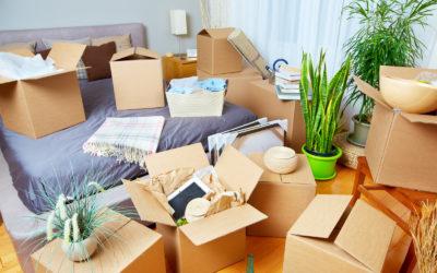 Stěhování z většího bytu do menšího.