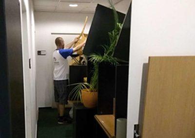 Uložení vystěhovaných věci z kanceláře