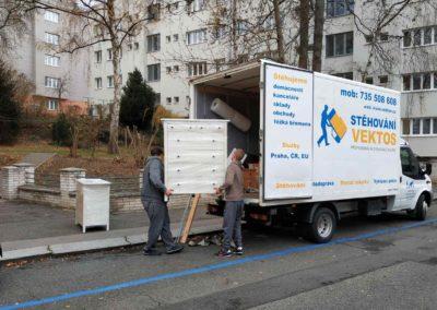 Demontáž a stěhování ložnice po Praze 2