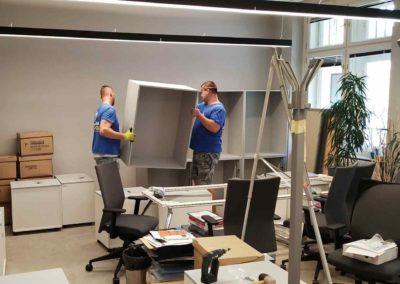 Nastěhování nového nábytku do kanceláře na Praze 1