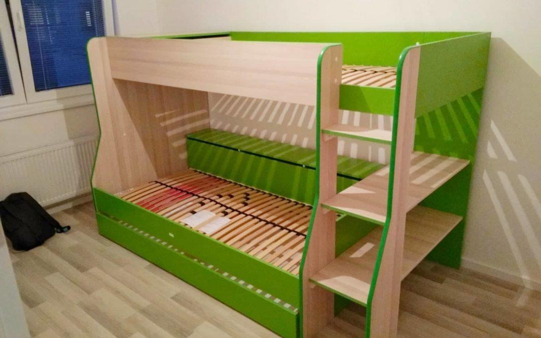 Montáž dvoupatrové dětské postele